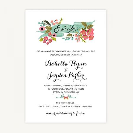 Wedding Invitation Template A3