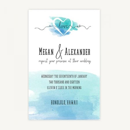 Wedding Invitation Template A4