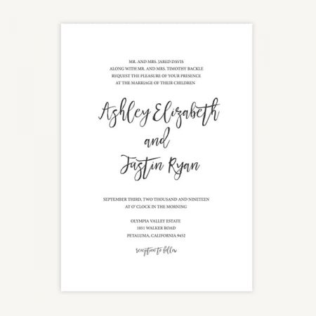 Wedding Invitation Template A1