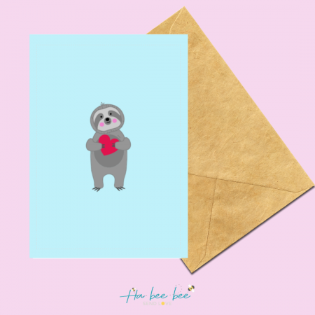 Sloth Love Heart