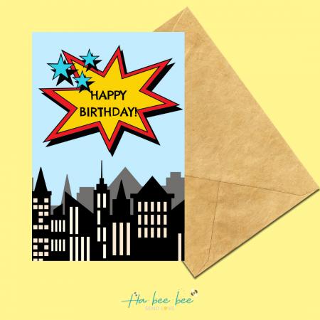 Superhero Birthday Skyline