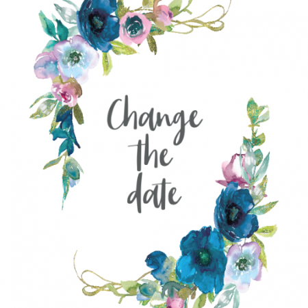 Blue Florals - Change the date