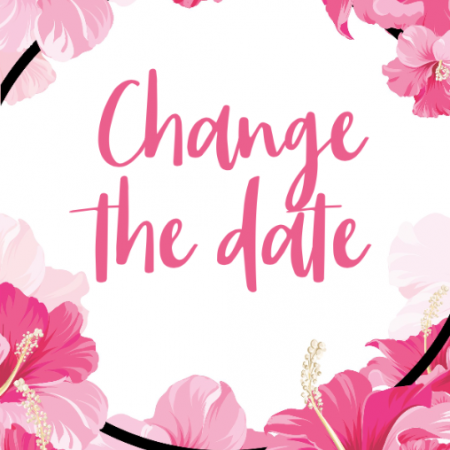 Pink Flowers - Change the date