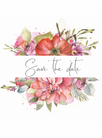 Classic Floral - Save The Date
