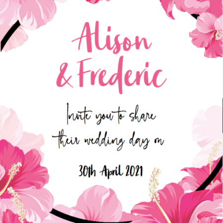 Pink Flowers - Save The Date