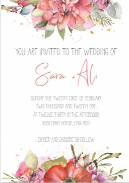 Classic Floral - Wedding Invite