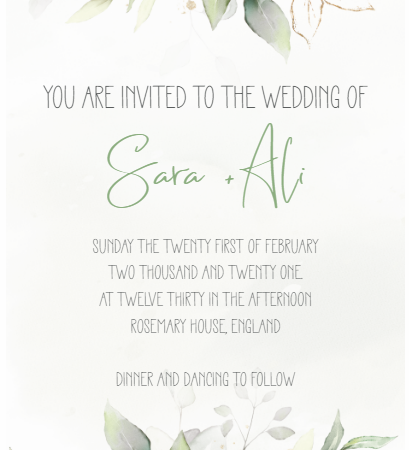 Eucalyptus - Wedding Invite