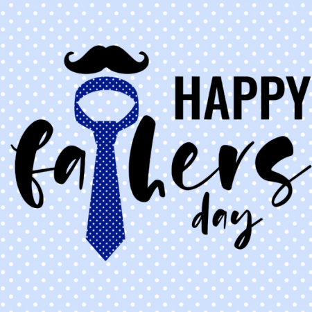 Happy Fathers Day - Tie & Moustache