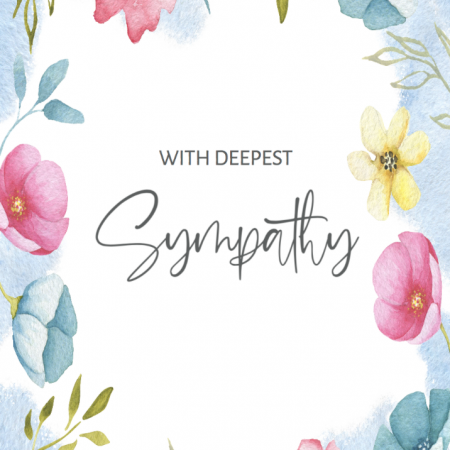 With Sympathy - Water Colour Frame