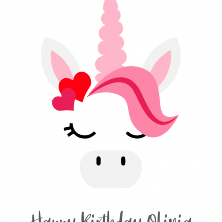 Birthday Unicorn - Pink
