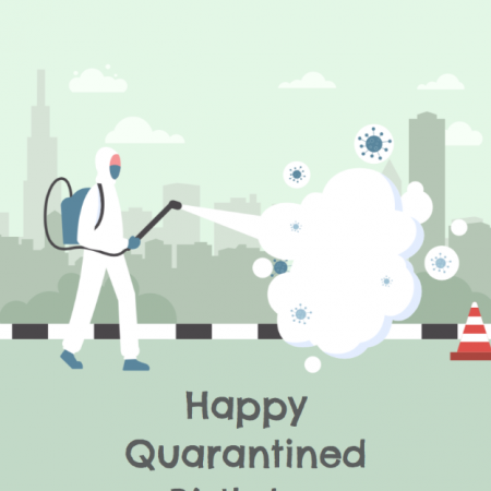 Quarantine Suit - Birthday Wishes