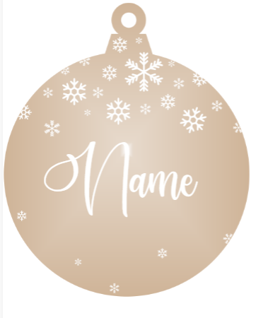 Add a Name : Snowflake - Bronze mirror ornament