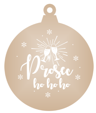 Prosec-ho-ho-ho - Bronze mirror ornament