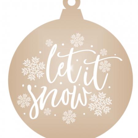 Let it snow - Bronze mirror ornament