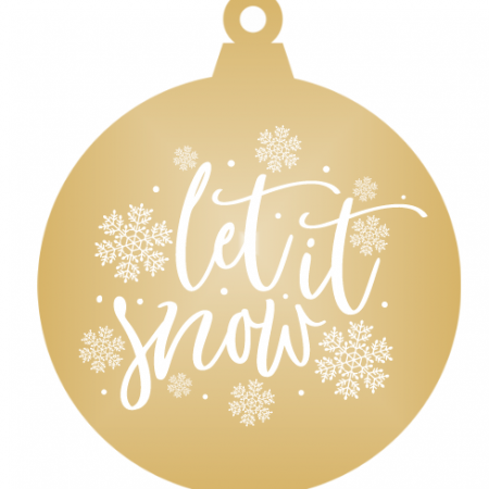 Let it snow - Gold mirror ornament
