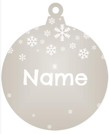 Add a Name : Snowflake - Silver mirror ornament