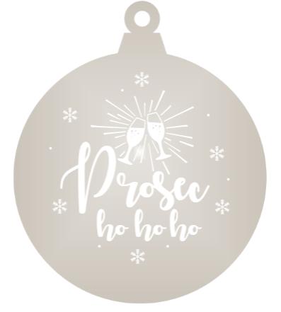 Prosec-ho-ho-ho - Silver mirror ornament