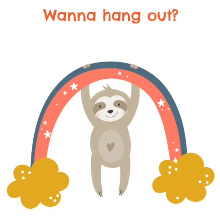 Wanna hang out sloth - Portrait