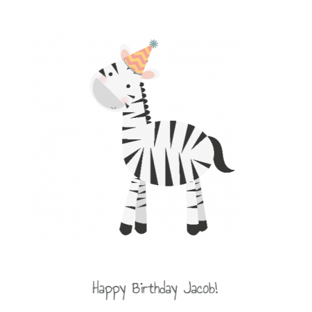 Happy Birthday Zebra