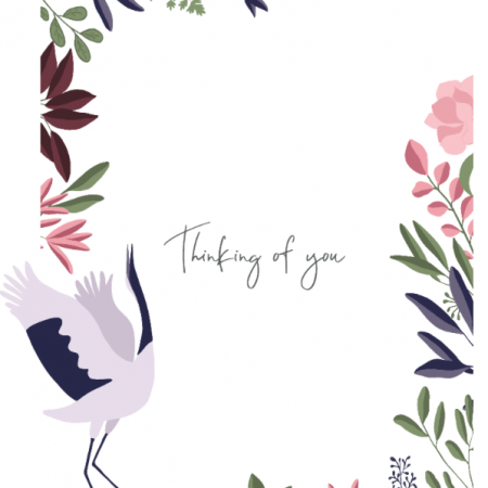 Thinking of you - Stork