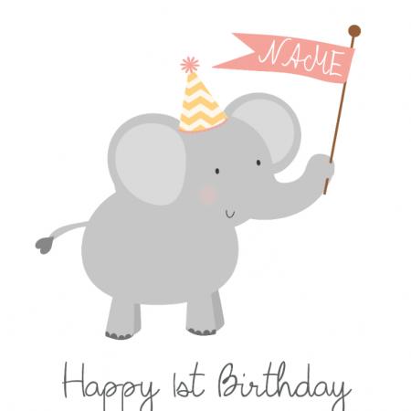 Happy 1st Birthday Elephant