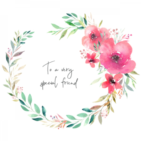 To a special friend - Garland