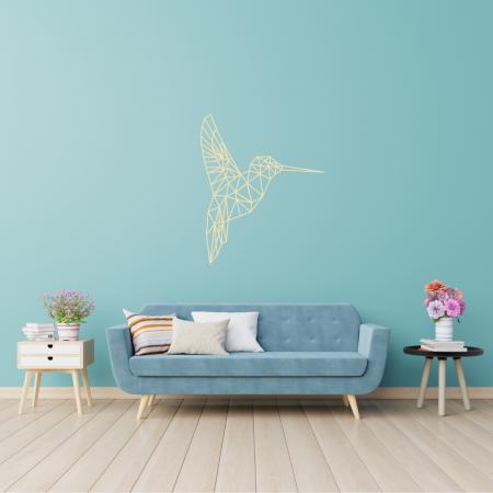 Gold - Laser Cut Hummingbird