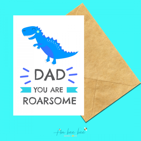 Dad - You are Roarsome - Blue