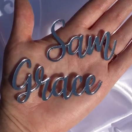 Laser Cut Name - Small